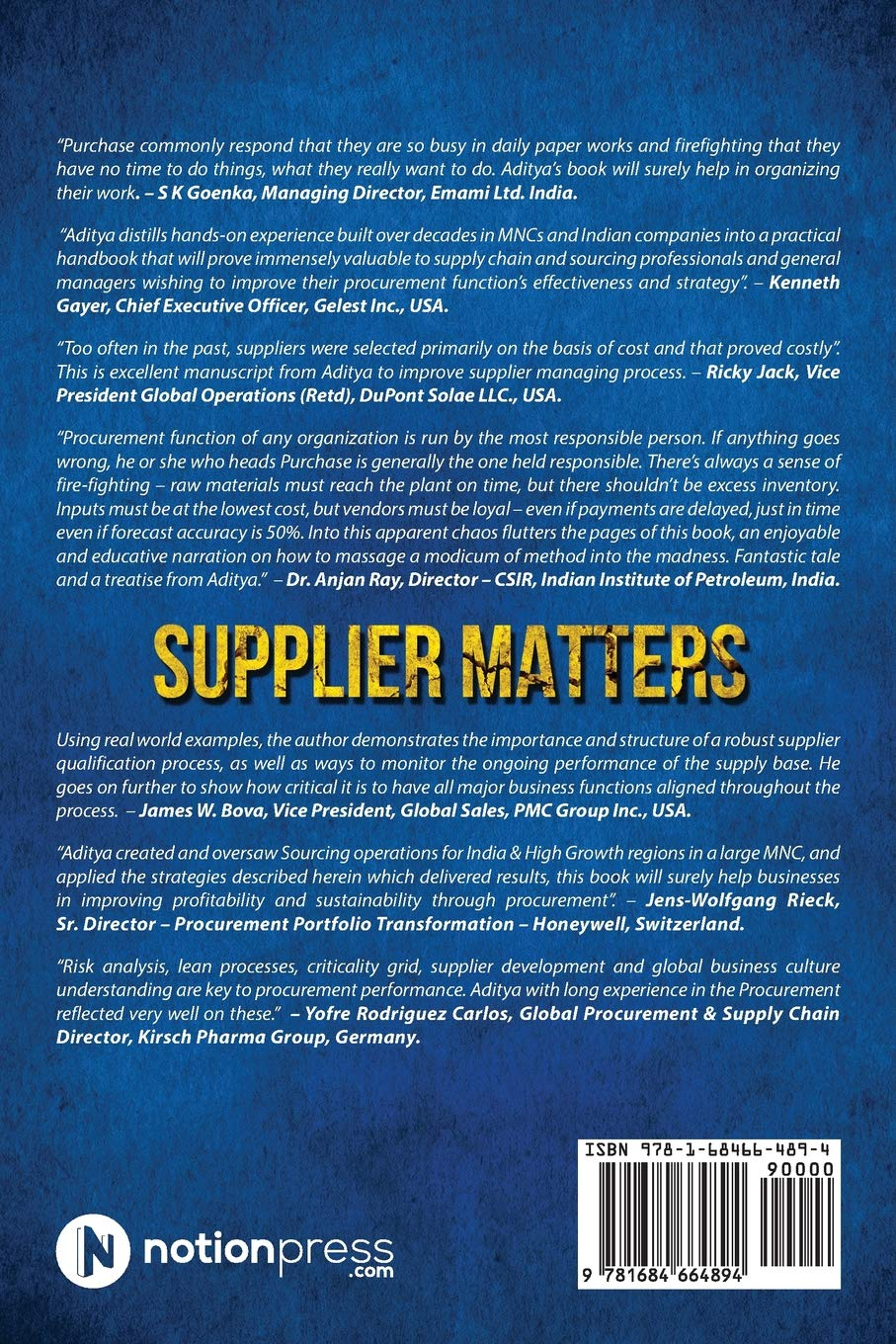 Buy Supplier Matters Book Online at Low Prices in India