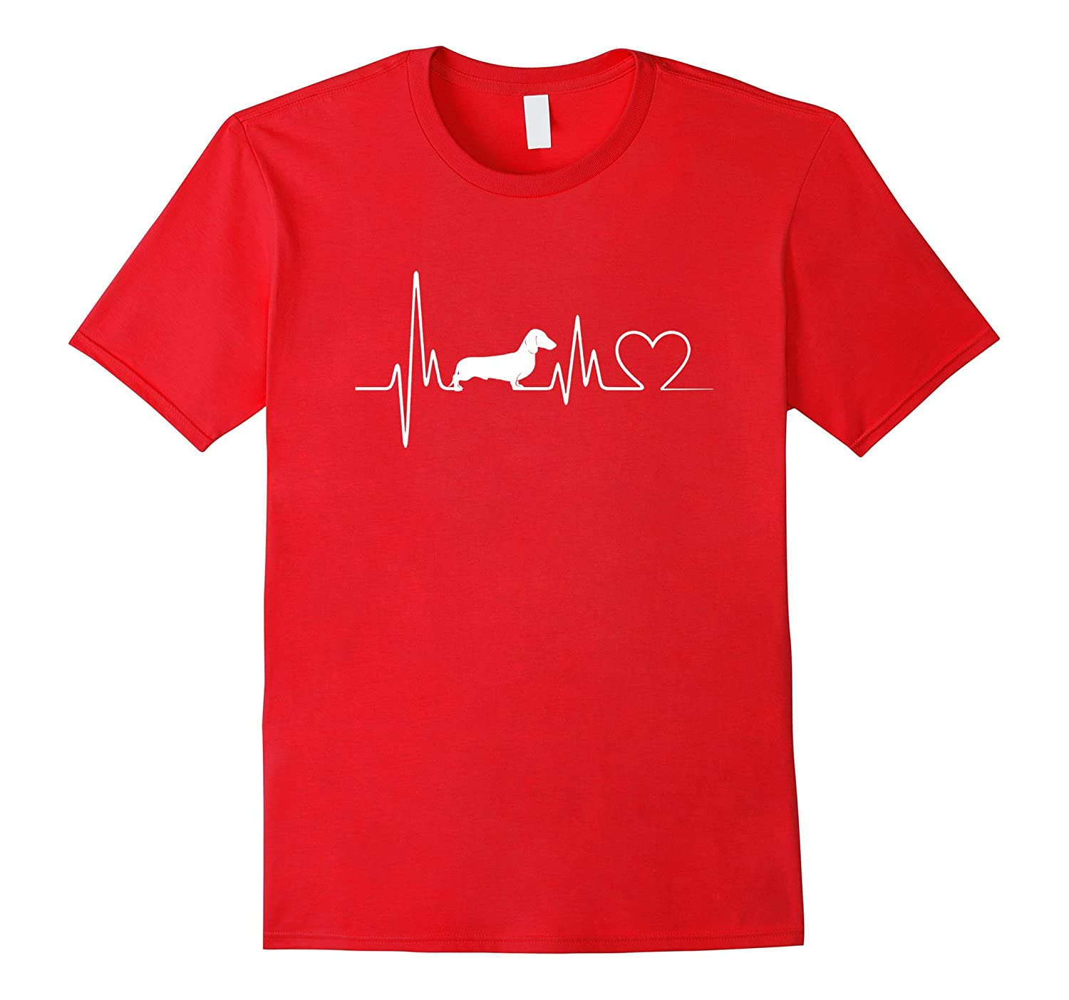 Dachshund  Wiener Dog Heartbeat T-Shirts-CD