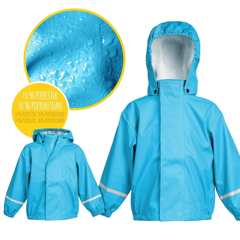smileBaby Chubasquero con capucha desmontable Unisex Azul claro