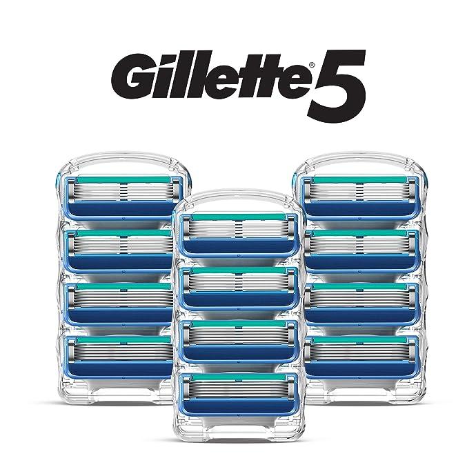 Gillette 吉列 锋隐5 剃须刀替换刀头 12个装 7折$20.99 海淘转运到手约¥144