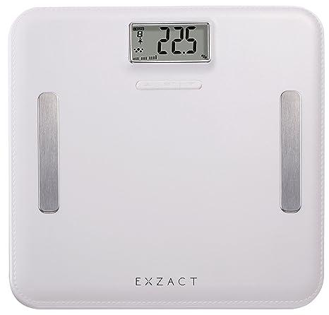 EXZACT Elite Cuero-Mirada Plataforma/ Analizador Corporal / Báscula Personal Electronica / Báscula de