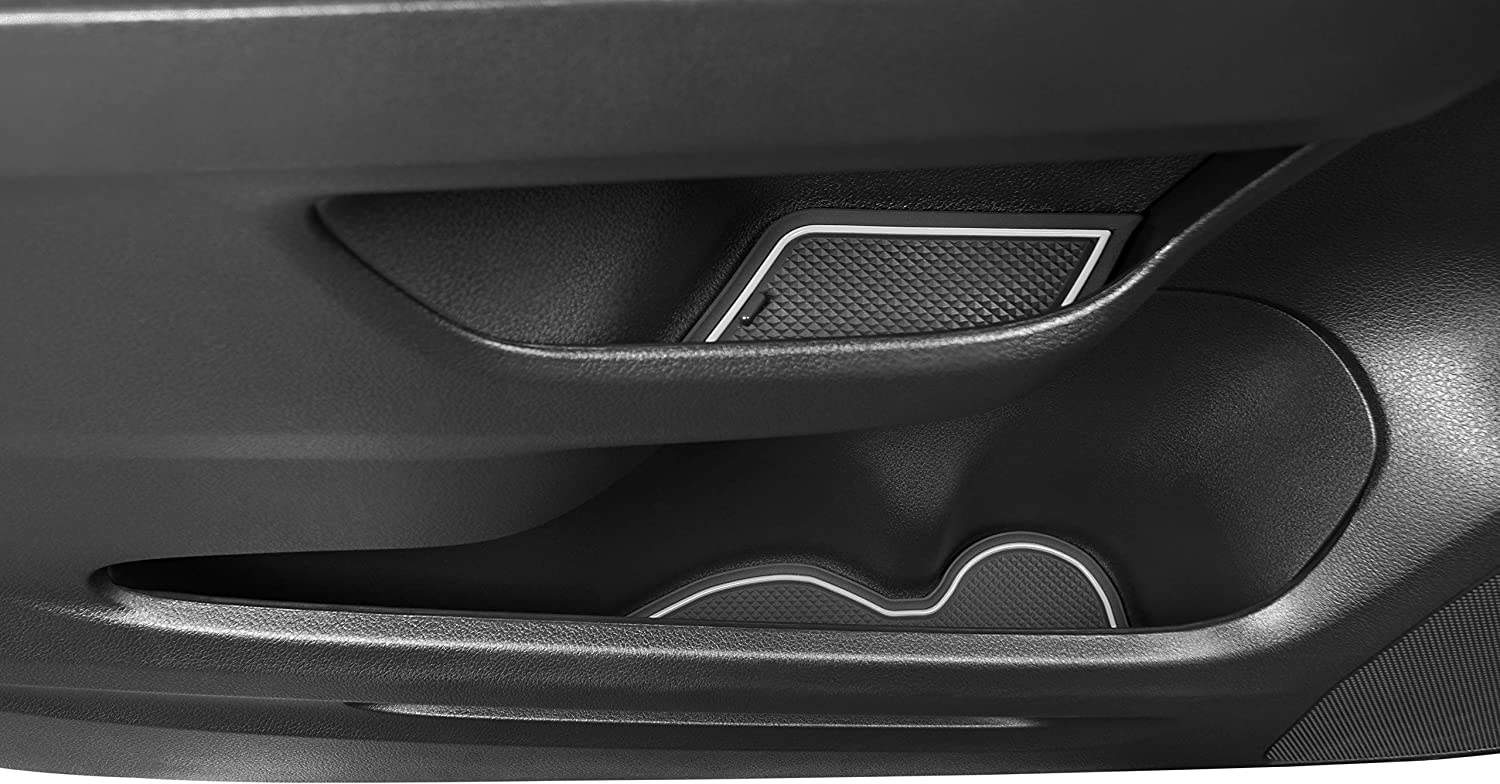 and Center Console Liner Accessories 17-pc Set Door Solid Black CupHolderHero for Honda CR-V CRV 2015-2016 Custom Fit Cup Holder