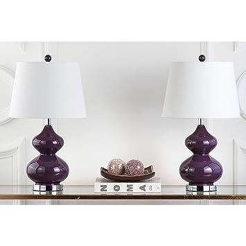 Amazon.com: Safavieh Eva - Juego de 2 lámparas de cristal de ...