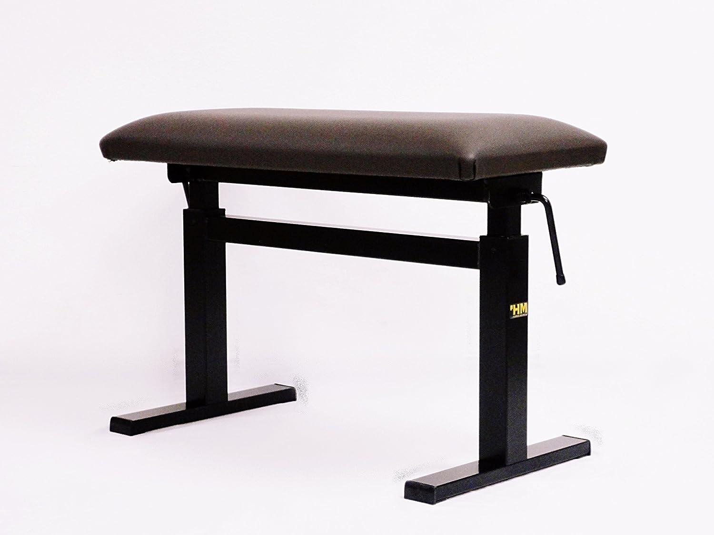 スペインHIDRAU(イドラウ)社製 新品ピアノ椅子 モデルBM45H ブラウン 座面傾斜:平