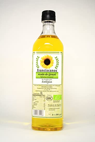 Aceite de girasol bio, 1 L: Amazon.es: Alimentación y bebidas
