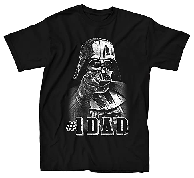 390384ba Amazon.com: Star Wars Darth Vader #1 Dad Father Men's Adult Graphic Tee T- Shirt: Clothing