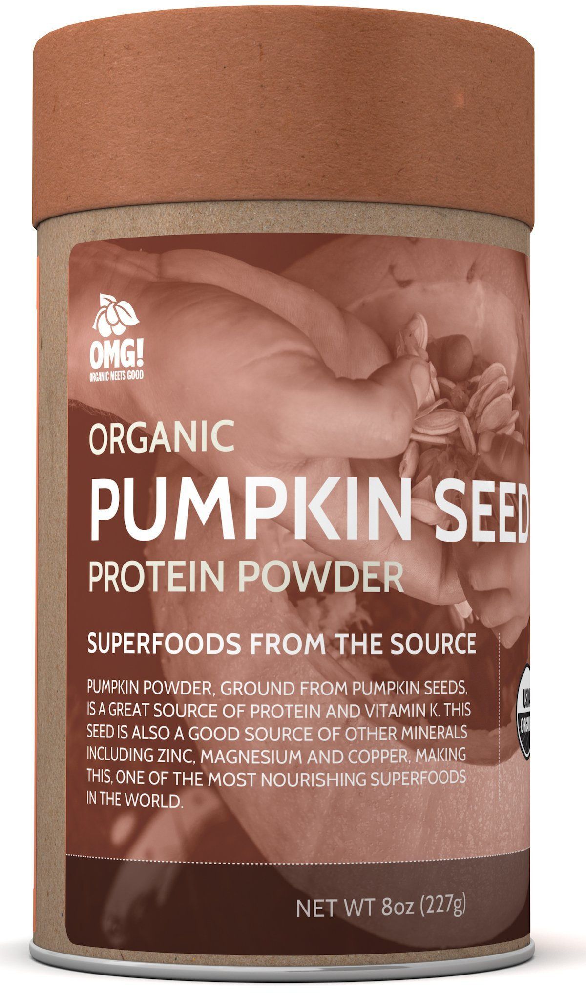OMG! Superfoods Organic Pumpkin Seed Powder - 100% Pure, USDA Certified Organic Pumpkin Seed Powder - 8oz by OMG! Organic Meets Good