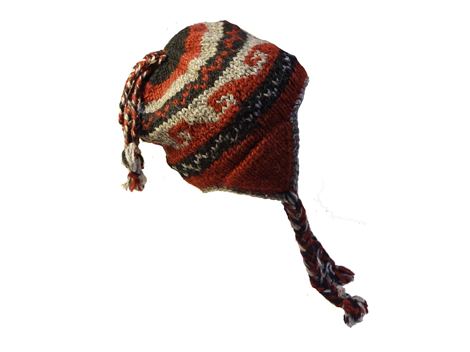 Youth Handwoven 100% Wool Cold Winter Hat Nepal Fair Trade