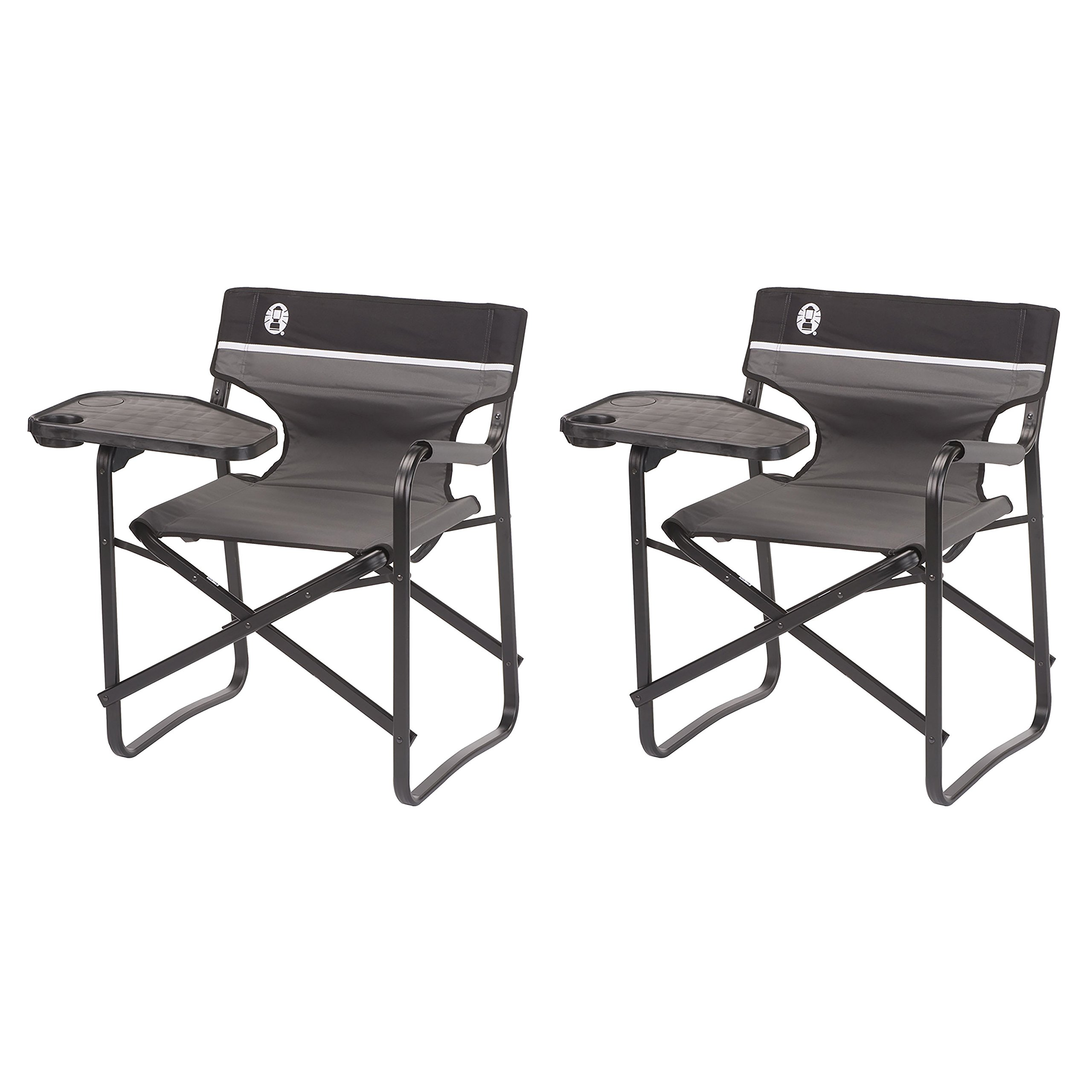 Coleman Aluminum Chairs + Swivel Table and Drink Holder, 2-Pack | 2 x 2000020295
