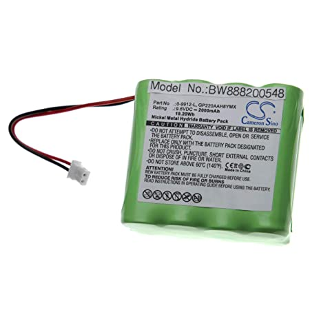 vhbw batería sustituido Visonic 0-9912-L, GP220AAH8YMX para ...