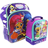 Shimmer and Shine 16 inch Backpack and Lunch Box Set (Molded Purple)