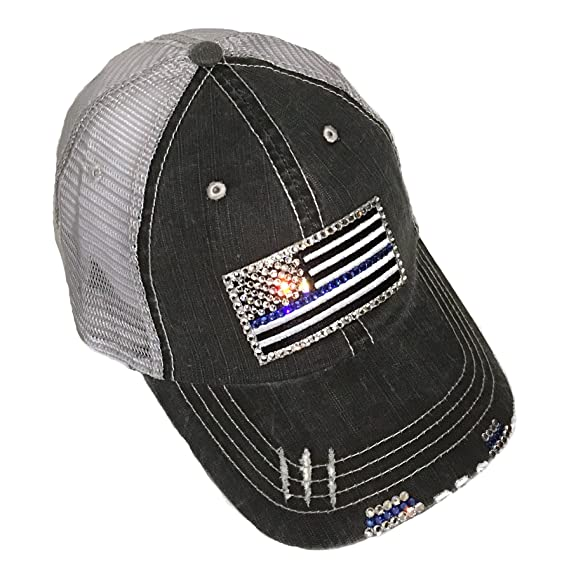 84439e636487c los angeles 493ad 022fe womens thin blue red line flag fitted ...