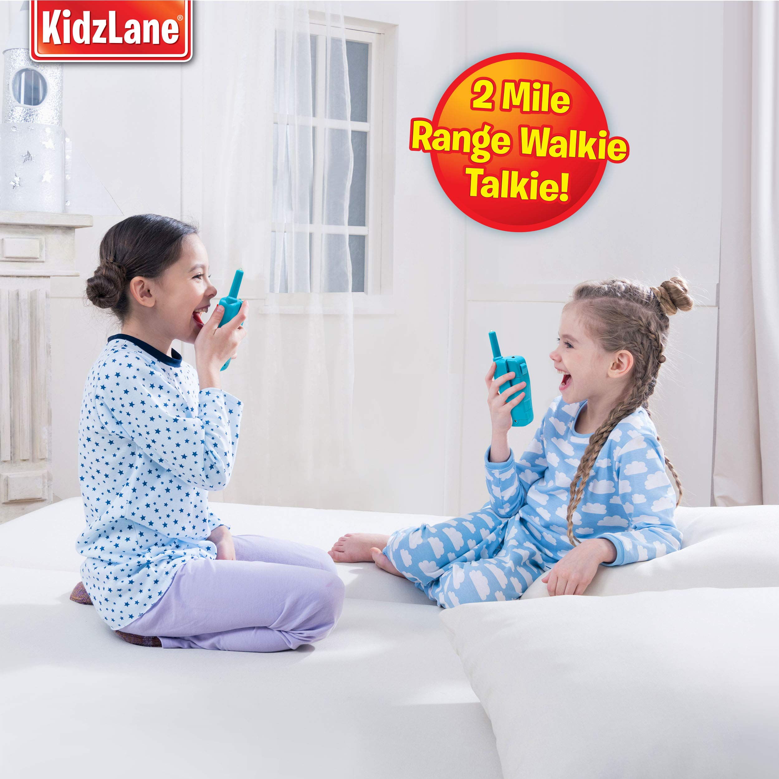 Kidzlane Voice Changing Walkie Talkies for Kids - 2 Mile Range, 8 Channels, Flashlight, & Call Alert by Kidzlane (Image #4)