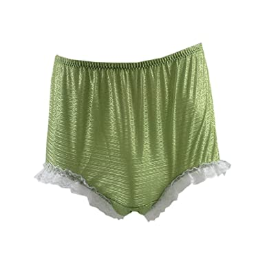 aa0a8a2f2e22 SFH02D12 Olive Green Handmade Style Vintage Knickers Women Panties Hipster Nylon  Underwear Men Briefs: Amazon.co.uk: Clothing
