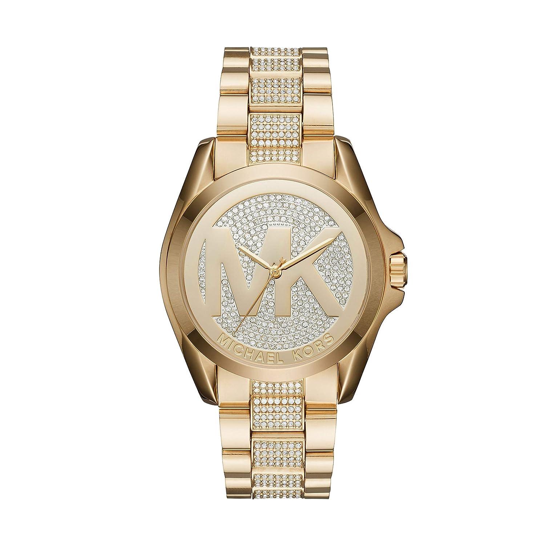 Michael Kors Womens Bradshaw Gold-Tone Pav Watch