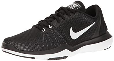 finest selection 07c82 652af NIKE Women s Flex Supreme TR 5 Cross Training Shoe, Black White Pure  Platinum