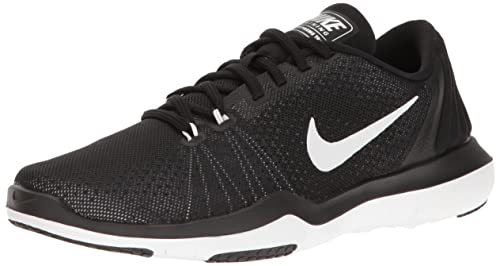NIKE Women s Flex Supreme TR 5 Cross Training Shoe, Black White Pure  Platinum 5ee911360a37
