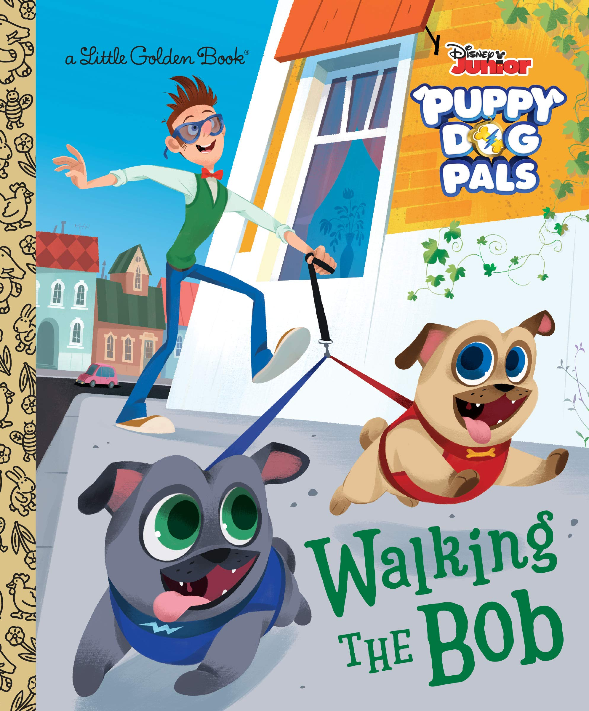 Walking the Bob (Disney Junior Puppy Dog Pals) (Little Golden Book)  Hardcover – July 2, 2019
