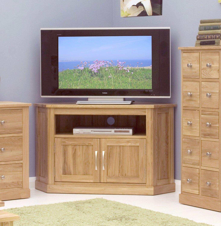 Mobel Oak Corner Television Cabinet: Amazon.co.uk: Electronics
