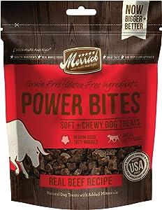 Merrick Power Bites All Natural Grain Free Gluten Free Soft & Chewy Chews Dog Treats