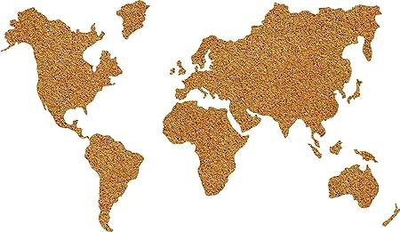 Wallpops wpe1941 cork world map pin board brown amazon wallpops wpe1941 cork world map pin board brown gumiabroncs Gallery