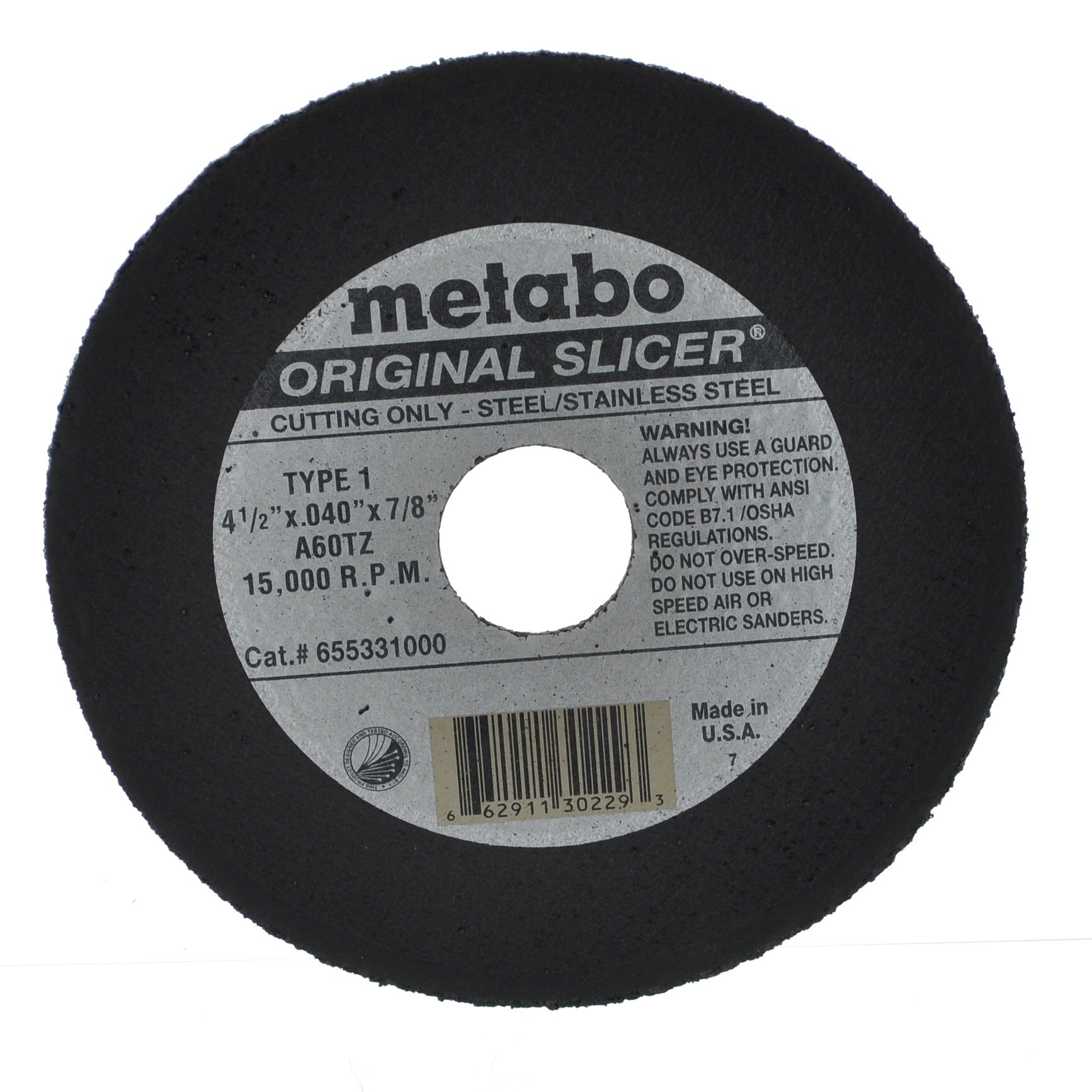 Metabo Slicer Cut Off Wheel 4-1/2'' X .040 Box Of 100 by Metabo