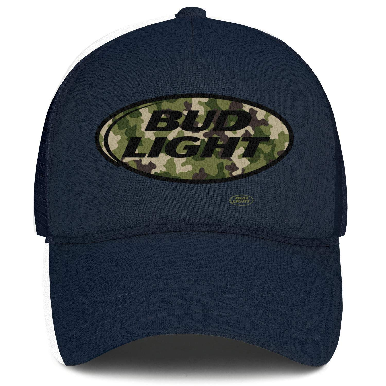 Men Unisex Adjustable Bud-Light-Beer-United-States-Black-Camouflage-Army-Baseball Cap Sports Flat Hats