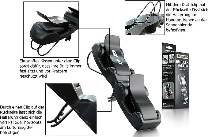 Grip Bender Brillenhalter Für Sonnenblende Und Lüftung Im Auto Diese Brillenhalterung Für Ihr Auto Bietet Platz Für Mehrere Brillen Sonnenbrillenhalter Zur Sicheren Brillenaufbewahrung Auto