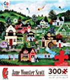 """Jane Wooster Scott american folk art """"A Picture Perfect Day"""" 300 Oversized Piece Puzzle MADE IN USA"""