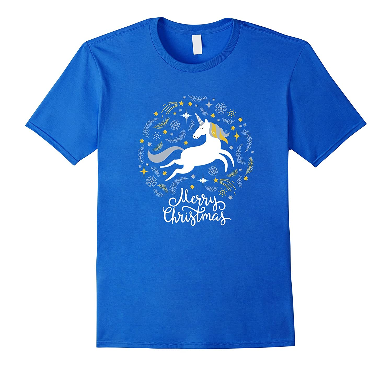Cute Unicorn Merry Christmas T-shirt best gift for Christmas-Art