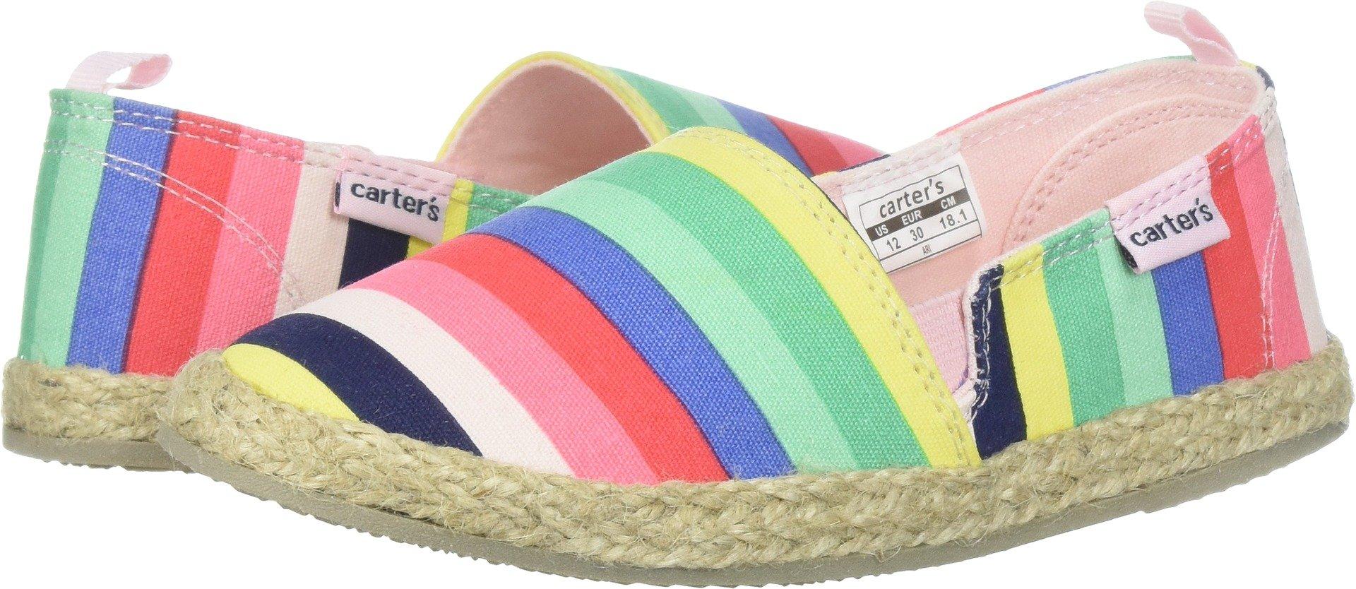 Carter's Girls' Ari Espadrille Slip-on Loafer Flat, Print, 10 M US Toddler