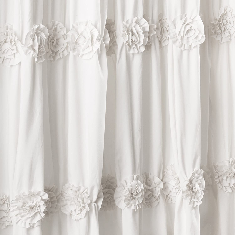 Amazon.com: Lush Decor Darla Shower Curtain, 72 By 72 Inch, White: Home U0026  Kitchen