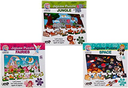 Jigsaw Puzzles - Pack of 3