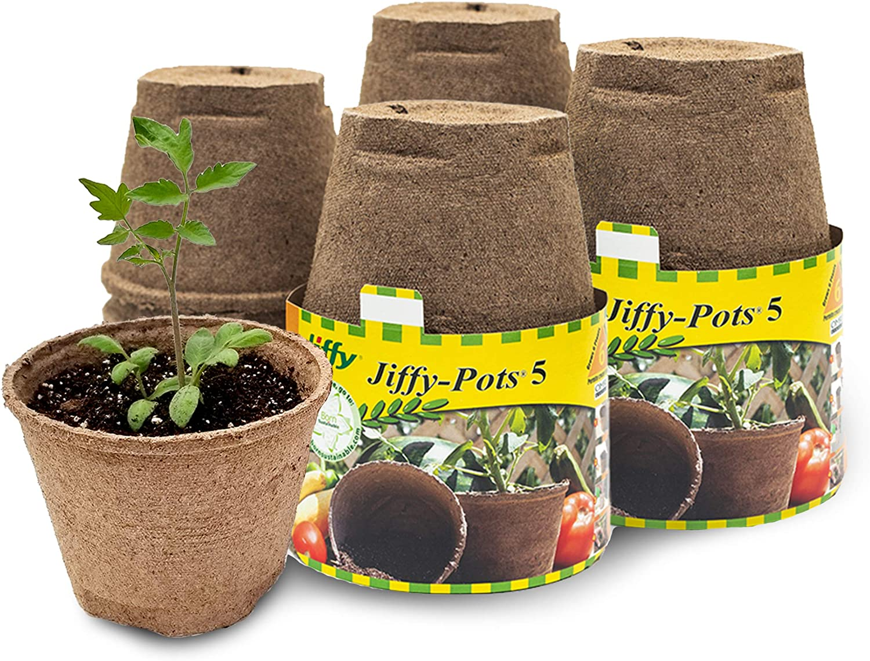 10 PCS Premium Seedling Starter Trays Peat Pots JOYSEUS Seed Starter Peat Pots