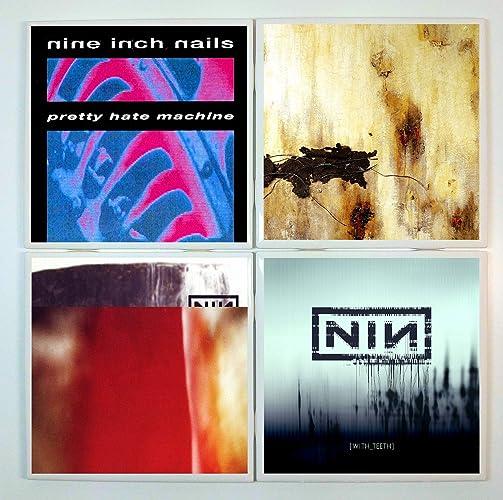 Amazon Nine Inch Nails Coasters Set Of 4 Tile Coasters Band