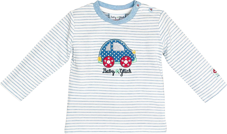 SALT AND PEPPER Baby-Jungen Bg Longsleeve Stripe Auto Ocs Langarmshirt