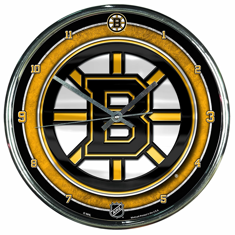 Amazon nhl boston bruins chrome clock 12 x 12 sports amazon nhl boston bruins chrome clock 12 x 12 sports fan alarm clocks sports outdoors amipublicfo Gallery