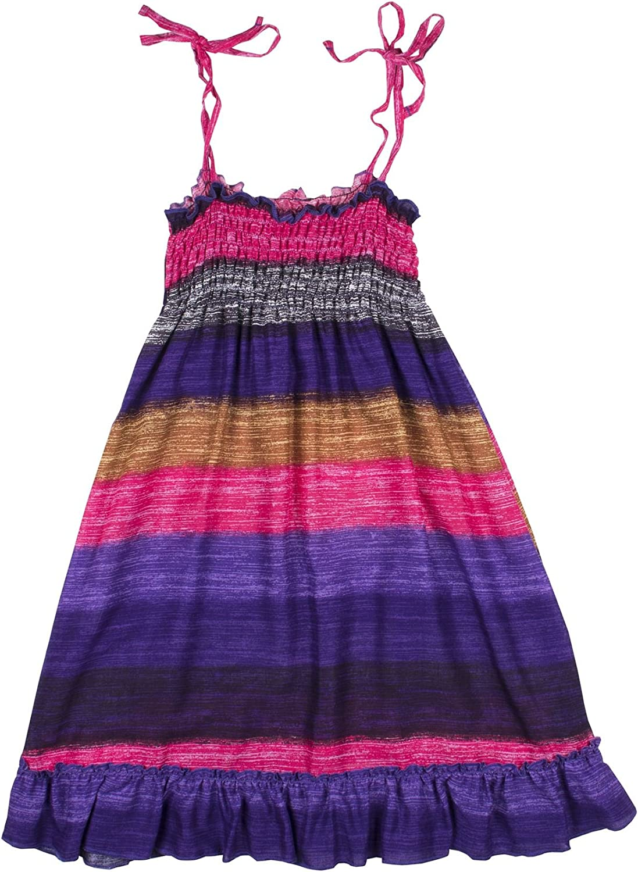 Lofbaz Girls Long Casual Beach Dress Thick Stripes