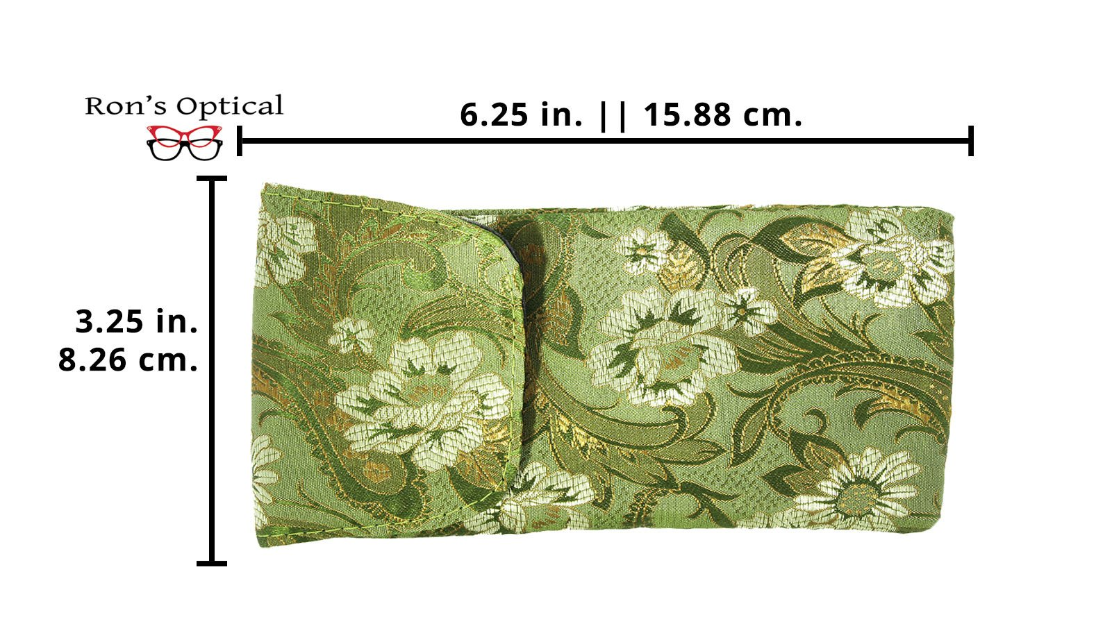3 Pack Floral Eyeglass Case Top Closure, Slip In Eyeglass Case Soft Fits Medium To Large Glasses, Women by Ron's Optical (Image #2)