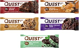 Quest Nutrition Protein Bar, Chocolate Lovers Variety Pack, High Protein, Low Carb, Gluten Free, Keto Friendly, 12 Count