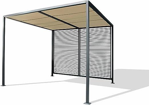 Leco - Templete 14340114, Techo para jardín Estilo Moderno, de Antracita, Ancho 2, 80 x Largo 2, 80 x Altura 2, 45, : Amazon.es: Jardín