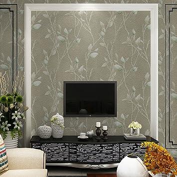 Kleine Fresh Garden Leaves Wildleder Tapete Geprägt 3D Tapeten Modern  Minimalist Schlafzimmer Wohnzimmer Hintergrund, Wallpaper