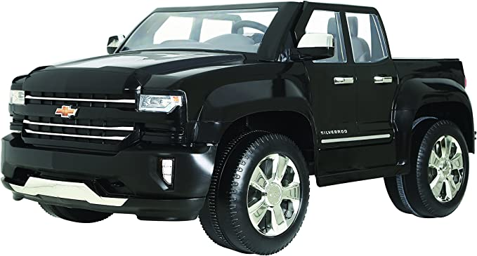 Amazon.com: Rollplay 12V Chevy Silverado Kid's Truck, Two-Seat Ride On  Toyup to 5 mph - Battery-Powered Kid's Car - Ages 3 & Up - Black, Small:  Toys & Games | Battery Charging Wiring 1991 Chevy Obs |  | Amazon.com