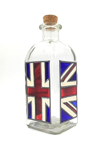 Botella pintada a mano Union Flag