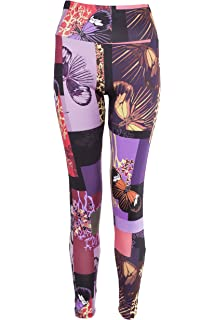 20f2e3f8751e6a NOROZE Womens Floral Print Leggings Ladies Stretch High Waist Yoga Pants  Active Tights