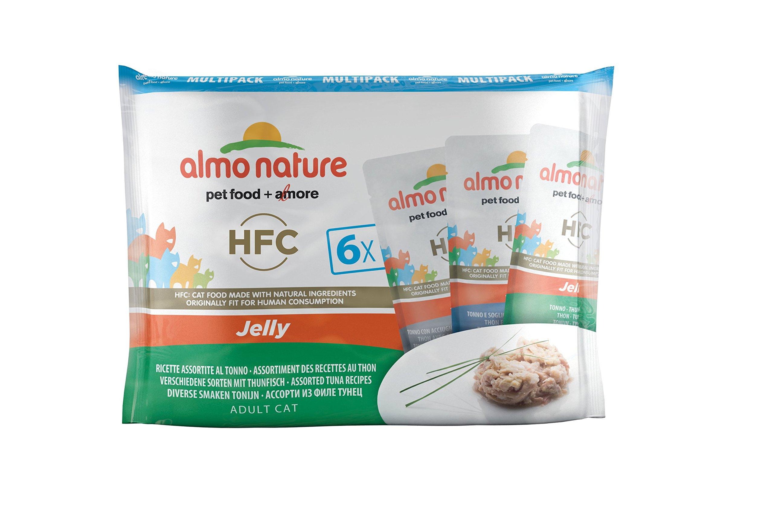 Almo Nature Cat Food Classic Pouch Multipack Mixed Tuna Selection, 8 x (6 x 55g)