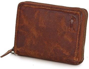 d5f4b47349ce8 Ven Tomy Geldbörsen - Kleine Geldbörse Brieftasche für Damen und Herren mit  Reißverschluss - Leder klein