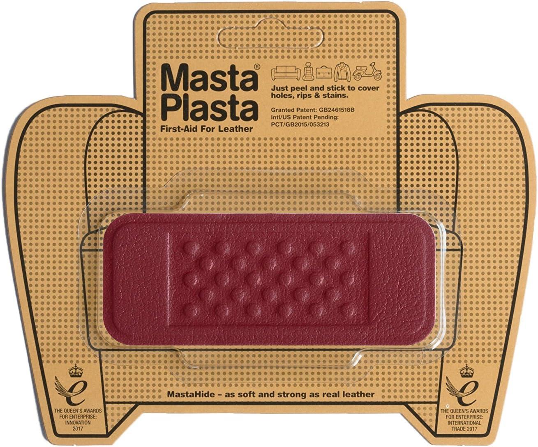 Sacs /à Main Vestes MastaPlasta Patch Rouge Autocollant pour la R/éparation des Cuirs si/èges de Voiture etc. Premiers Secours pour canap/és Choisissez la Taille