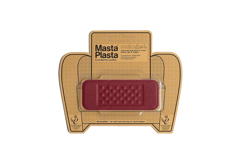 MastaPlasta adhésif Pansement Patch de réparation pour cuir. Rouge Petit Cercle 5cmx5cm. Mends trous; Couvre les taches. Premier secours pour les canapés, sièges de voiture, sacs à main, vestes en cuir, etc. Plus de couleurs/Tailles disponibles UKMPCRLR