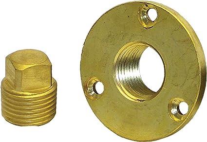"Boat Marine Stainless Steel Garboard Drain Plug Fits 1//2/"" NPT Pipe Flange OD 2/"""